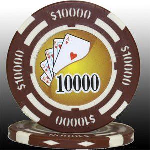 フォースポット チップ ( 10000$ ) 〔25枚セット〕 - カジノチップ・ポーカーチップ