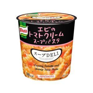 〔まとめ買い〕味の素 クノール スープDELI エビのトマトクリームパスタ 41.2g×24カップ(6カップ×4ケース)