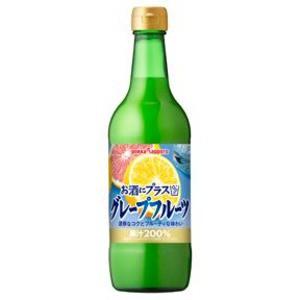 〔まとめ買い〕ポッカサッポロ お酒にプラス グレープフルーツ 540ml 瓶 12本入り(1ケース)