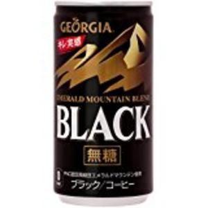 〔まとめ買い〕コカ・コーラ ジョージア エメラルドマウンテンブレンド ブラック 缶 185g×30本(1ケース)