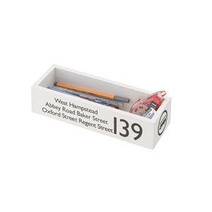 カトラリーボックス/文房具ケース 【ホワイト】 幅26cm×奥行9cm×高さ6cm 天然木桐材 FKG-268WH