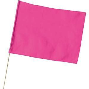 (まとめ)アーテック 旗/フラッグ 〔大〕 600mmX450mm ポリエステル製 軽量 蛍光ピンク 〔×30セット〕