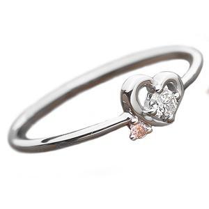 好きに ダイヤモンド リング ダイヤ ピンクダイヤ 合計0.06ct 10号 10号 合計0.06ct プラチナ Pt950 リング ハートモチーフ 指輪 ダイヤリング 鑑別カード付き, ABC-MART:e273094d --- chevron9.de