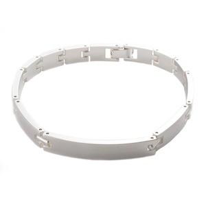 【70%OFF】 スターリングシルバー 磨き仕上げ 日本伝統工芸品 ブレスレット 20cm Lサイズ ハンドメイド 銀製-ブレスレット