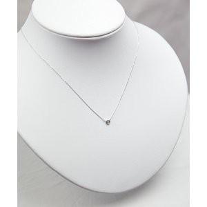 プラチナPt900 ダイヤモンドペンダント/ネックレス 一粒0.10ctUP フクリンタイプ