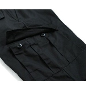 アメリカ軍 BDU カーゴショートパンツ /迷彩服パンツ 〔 Lサイズ 〕 リップストップ ブラック 〔 レプリカ 〕