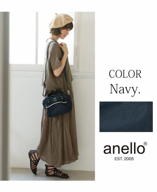 【anello/アネロ】スクエアミニボストン2WAYショルダーバッグ(レディース ボストン キャンバス がま口 斜めがけ ショルダーバッグ ショル