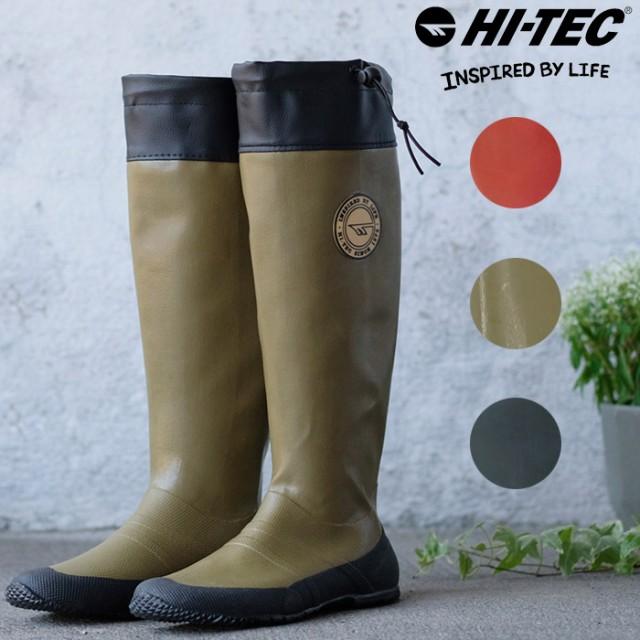 ハイテック レディース メンズ レインブーツ 長靴 ロング丈 パッカブル 持ち運び 折りたたみ キャンプ フェス 釣り 雨 HI,TEC  BTU08の通販はWowma!