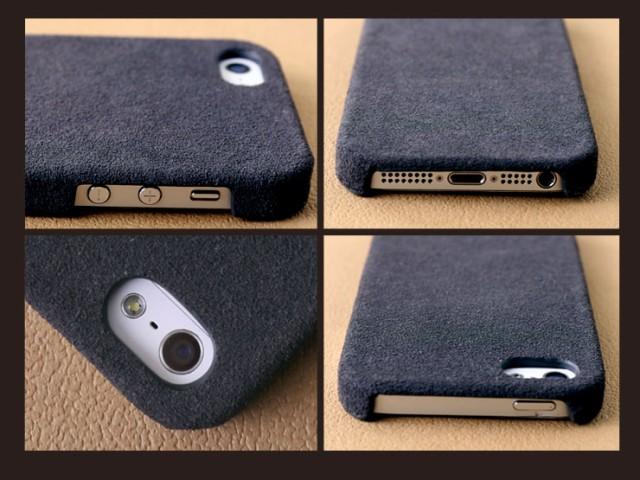 [GadgetMonster]スパンケース スパンコールが輝くヌバック仕様のレザーケース iPhone5s/5