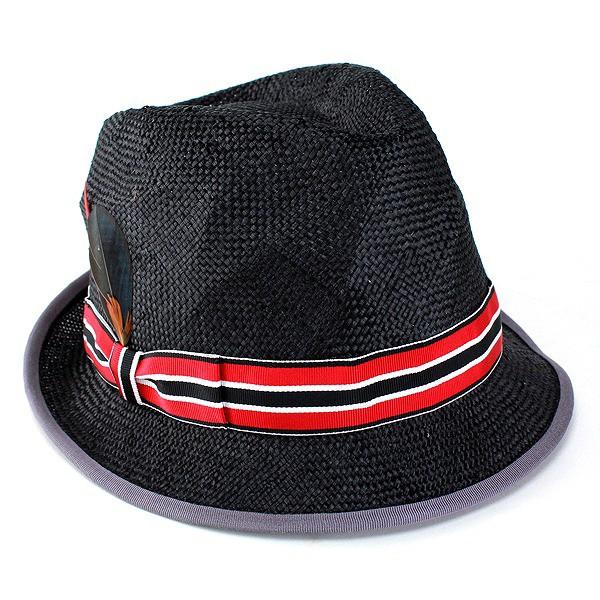 帽子 ハット レディース レディス ストローハット 春夏 小つば クラッシュ加工 麻 ブラック