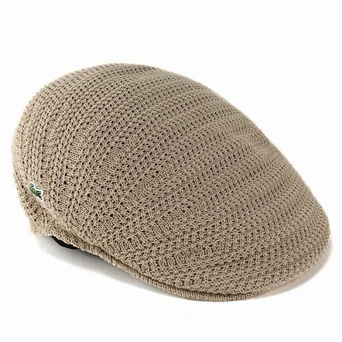 春夏ラコステ 帽子 ハンチング ファッション ニット コットン ivycap ベージュ