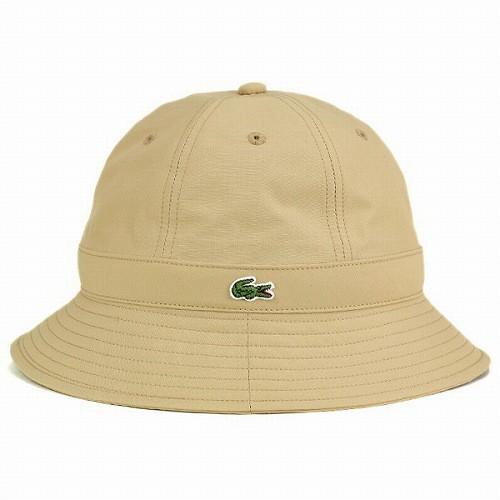 メトロハット ラコステ 帽子 メンズ ハット 撥水加工 雨よけ アウトドア アクティブ クルーハット lacoste ファッション ベージュ