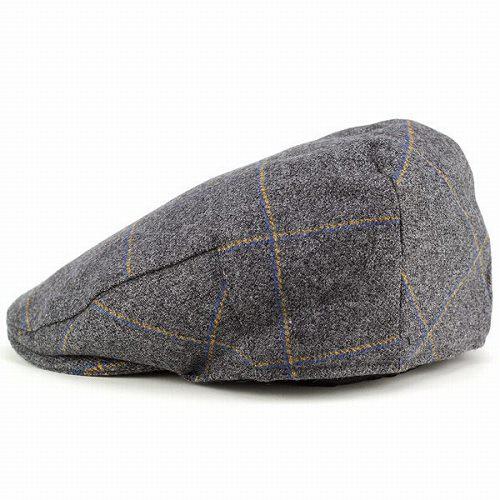 """CHRISTYS' LONDON 帽子 メンズ ハンチング 秋冬 クリスティーズ ロンドン museum of london tweed ツイード """"Balmoral"""" グレー"""