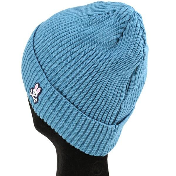 Psycho Bunny サイコバニー ニット帽 レディース サマーニット帽 ワッチ 春夏 帽子 ニット メンズ ブルー