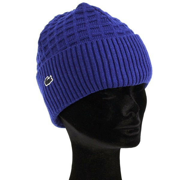 秋冬 ニット lacoste ラコステ メンズ レディース ニット帽 帽子 ニットワッチ ブルー