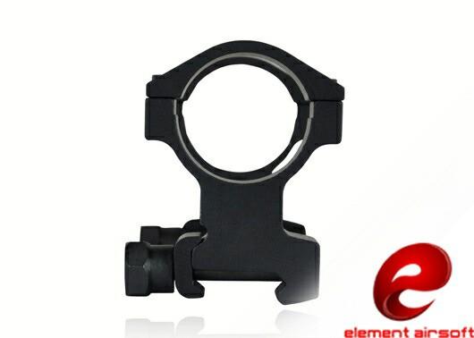 ELEMENT KACスタイル 30mmワンピーススコープマウント BK