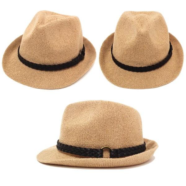 【P20倍】帽子:カラフルニット中折れハット◇涼感メッシュデザイン◇全7色◇hat-1228