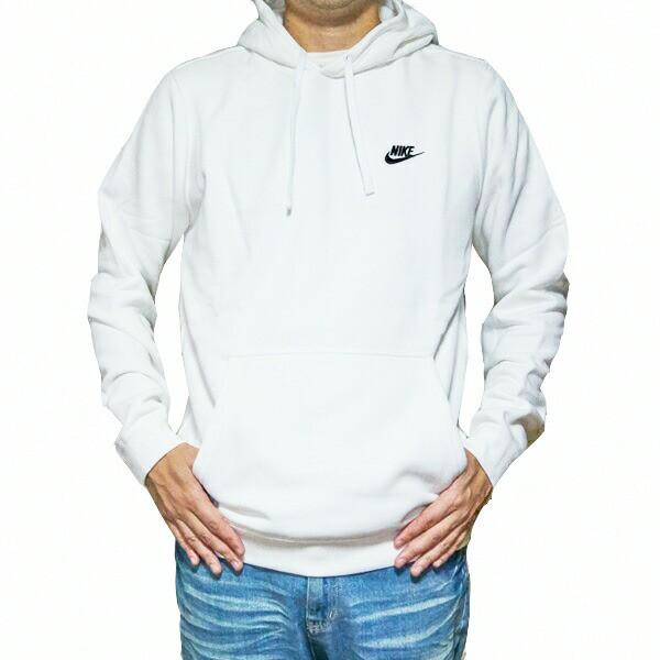 NIKE パーカー 白 ナイキ メンズ ロゴパーカー ホワイト クラブ プルオーバー フーディ Nike Men's NSW Club Fleece  Pullover Hoodieの通販はWowma!