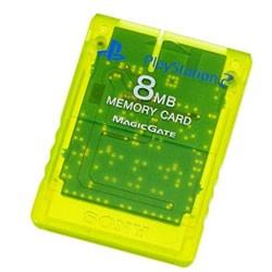 【新品】PS2周辺機器 PlayStation 2専用メモリーカード (8MB)レモンイエロー (輸入版)