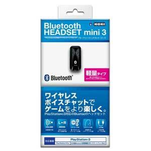 【処分特価★+5月18日発送★新品】PS4周辺機器 HORI製  PS4 PS3 VITA対応 Bluetooth ヘッドセット mini3