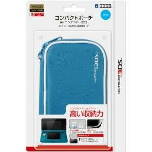 【新品】任天堂公式ライセンス商品 コンパクトポーチ for ニンテンドー3DS ブルー/3DS-006,HORI,ホリ,ポーチ,ニンテンドー,Nintendo,3DS,