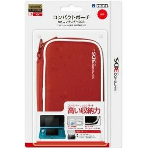 【新品】任天堂公式ライセンス商品 コンパクトポーチ for ニンテンドー3DS レッド/3DS-007,HORI,ホリ,ポーチ,ニンテンドー,Nintendo,3DS,