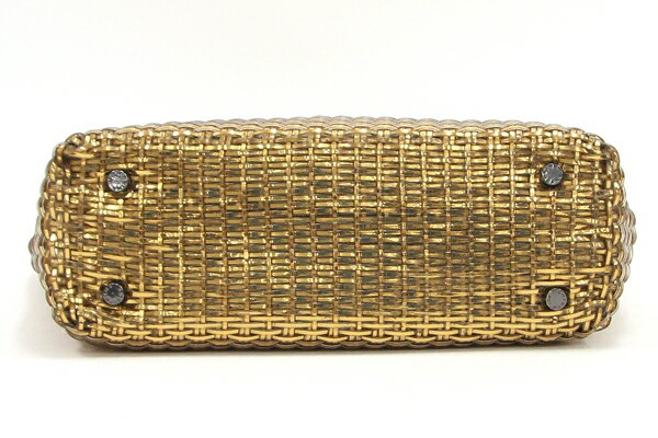 アンテプリマ ハンドバッグ イントレッチオ ゴールド PVCワイヤー 中古 トートバッグ メッシュ 編み込み ワイヤーバッグ ANTEPRIMA