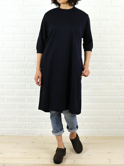 PULETTE(プレット) 綿ポリエステル クルーネック 7分袖 ミニマムドレス ワンピース・PL-CS0861 のカラー画像