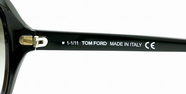トム フォード サングラス ブラックグラデーション ブラック 黒 TF217 01B 62□16 135