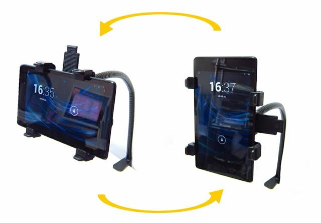 メール便送料無料/NEC LaVie Tab E NSL311TESZ1S[10.1インチ]機種対応タブレット用 くねくね フレキシブル アームスタンド と 反射防止