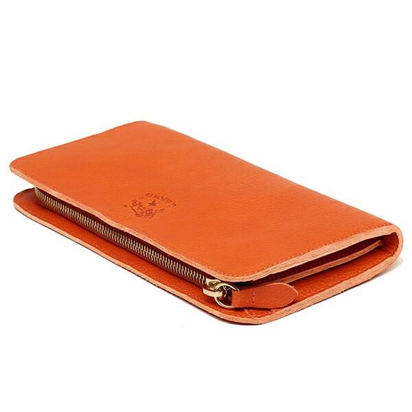 【あす着】イルビゾンテ 財布 レディース IL BISONTE C0909 P 166 レザー 長財布 ORANGE