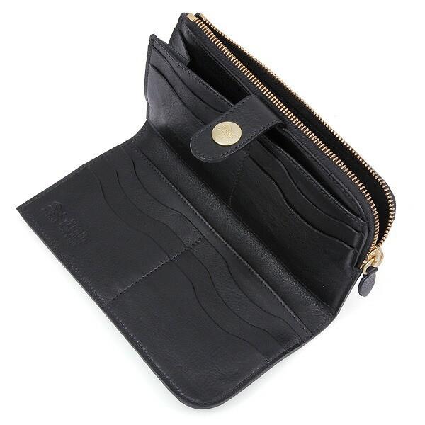 【あす着】イルビゾンテ IL BISONTE 財布 レディース/メンズ C0782-MP 153 長財布 BLACK