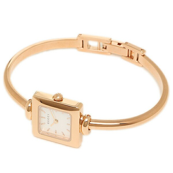572ec31f1086 YA019520 バングルウォッチ グッチ レディース腕時計 1900 ホワイト×ピンクゴールド 20mm