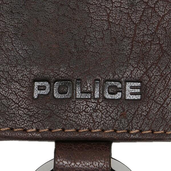 【あす着】ポリス メンズ キーケース POLICE PLC115BRGD ブラウン ゴールド