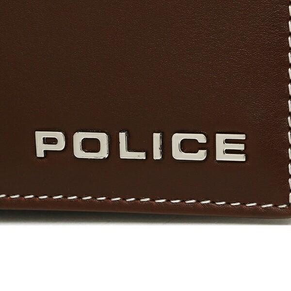 【あす着】ポリス メンズ 折財布 POLICE PLC133 ブラウン