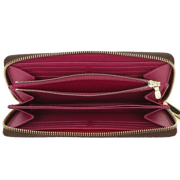 【あす着】ルイヴィトン 長財布 レディース LOUIS VUITTON M41895 ブラウン ピンク
