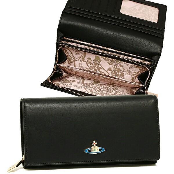 【あす着】ヴィヴィアンウエストウッド 長財布 レディース VIVIENNE WESTWOOD 51060001 40151 ブラック