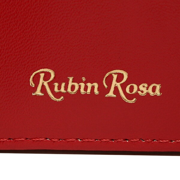 【あす着】ルビンローザ 三つ折り財布 レディース Rubin Rosa RR2003 ブラック レッド
