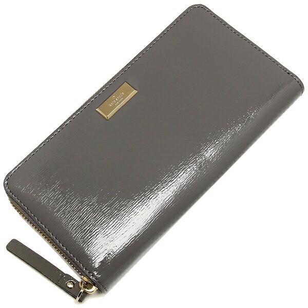【あす着】ケイトスペード 長財布 アウトレット レディース KATE SPADE WLRU2365 044 グレー