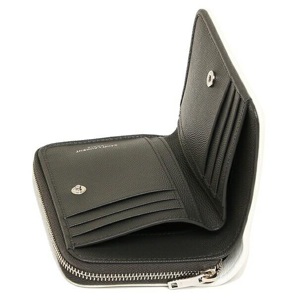 【あす着】サンローラン 折財布 レディース SAINT LAURENT PARIS 403723 BOWF2 1292 グレー ホワイト