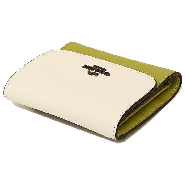 【あす着】コーチ 折財布 アウトレット レディース COACH F26458 QBN2O ホワイト イエロー