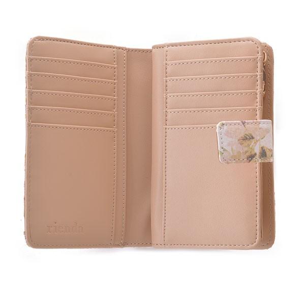 rienda 財布 リエンダ VINTAGE ROSE FLOWER PRINT TWO FOLD WALLET 財布 レディース 二つ折り 花柄 l字ファスナー