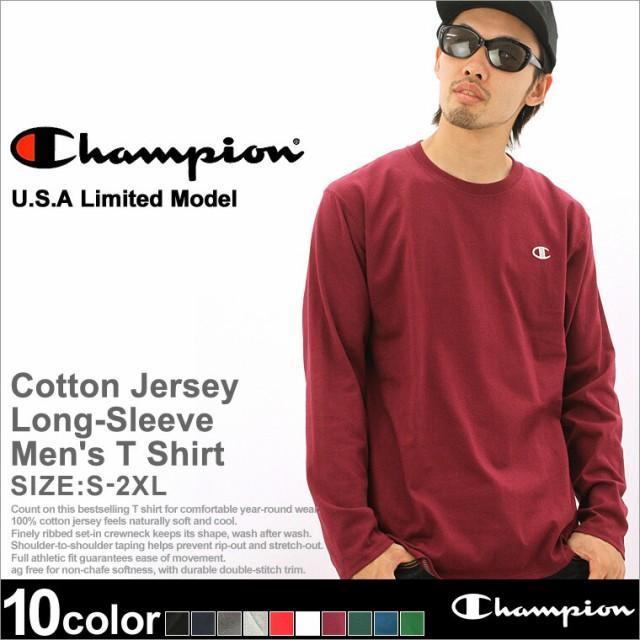 Champion チャンピオン tシャツ 長袖 メンズ ロンt 長袖tシャツ カットソー tシャツ 長袖 アメカジ ストリート 大きいサイズ