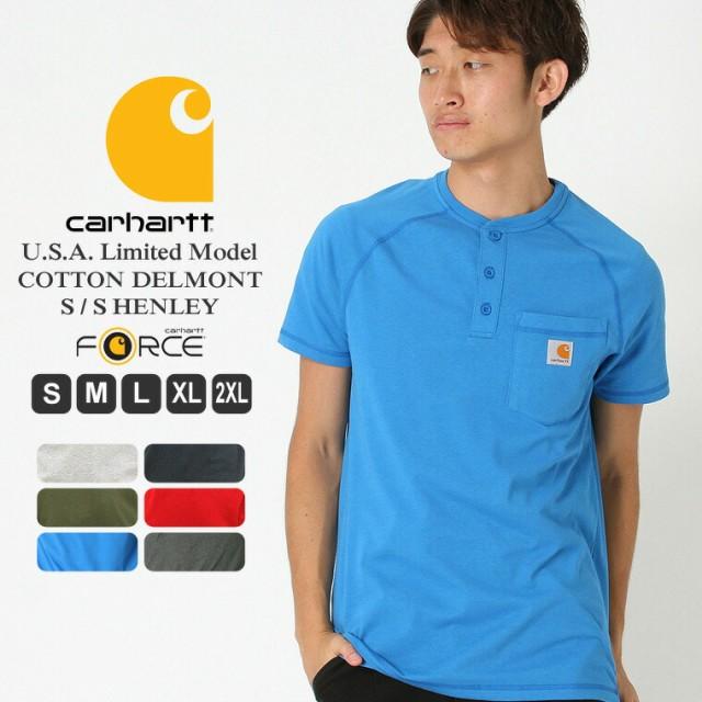 Carhartt カーハート tシャツ 半袖 メンズ ヘンリーネック