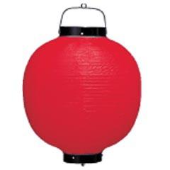 高山商店 ビニール提灯 丸型 9号 赤・黒枠 b107