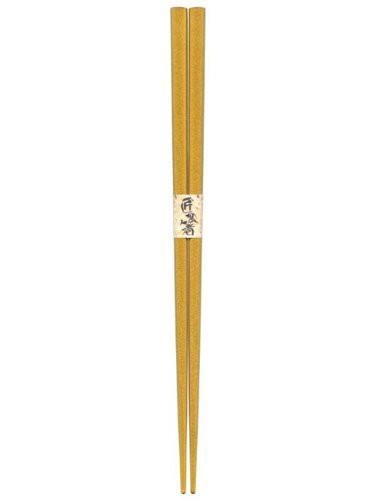 【メール便発送】日本製 Japan 若狭 田中箸店 金襴 22.5cm 062105