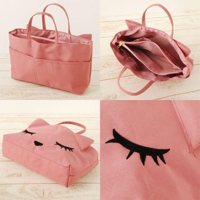 ねこバッグ バッグインバッグ トートバッグ ネコ レディース 小さい ミニバッグ かわいい 女の子 BAG ネコ 猫 おすましプーちゃん 女性