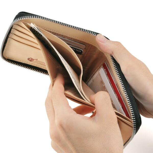 ブライドルレザーラウンドファスナー二つ折り財布[誕生日 プレゼント ギフト 記念日 ウォレット 本革 牛革]