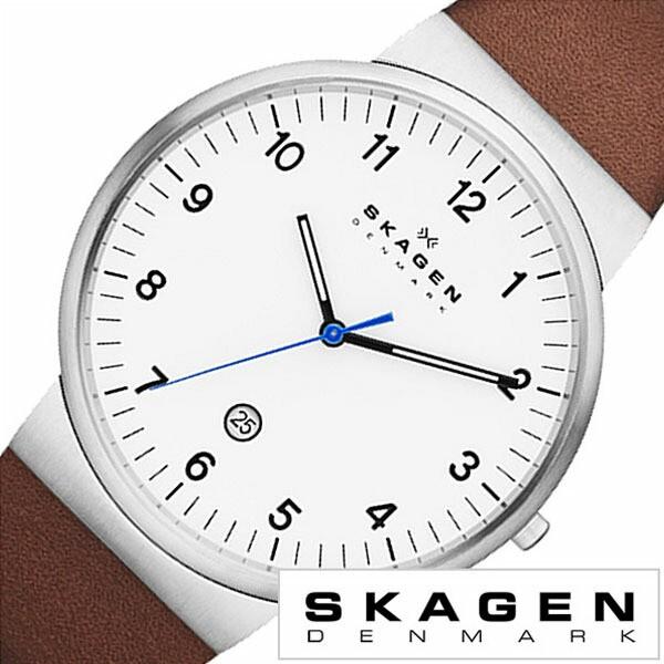 スカーゲン 時計 メンズ 腕時計 クラシック レザー SKW6082