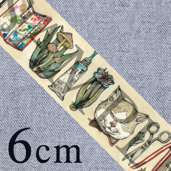 2017年ヒグチユウコ×ホルベインコラボ マスキングテープ 60mm幅 数量限定 マステ 6cm